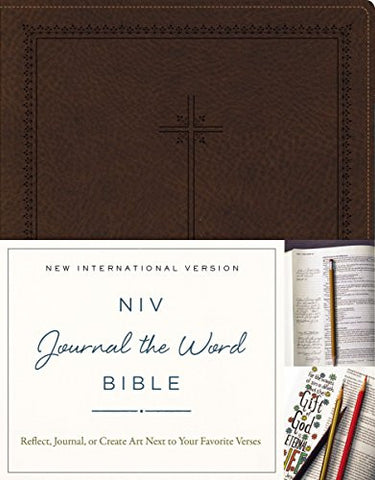 NIV, Journal the Word Bible, Imitation Leather, Brown: Reflect, Journal, or Create Art Next to Your Favorite Verses