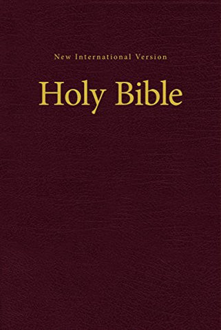NIV, Value Pew and Worship Bible, Hardcover, Burgundy