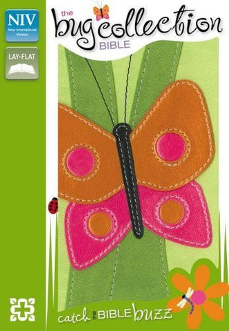 NIV, The Bug Collection Bible: Butterfly, Imitation Leather, Green/Multicolor