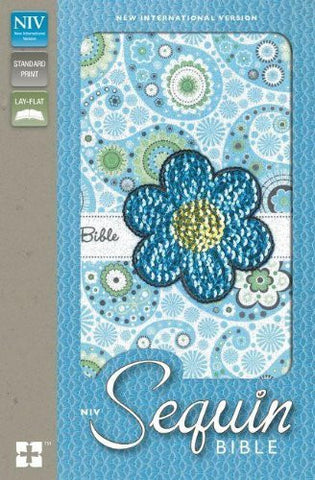 NIV, Sequin Bible, Imitation Leather, Blue
