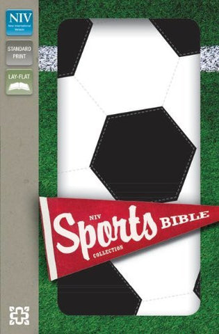 NIV, Sports Collection Bible: Soccer, Imitation Leather, Black/White