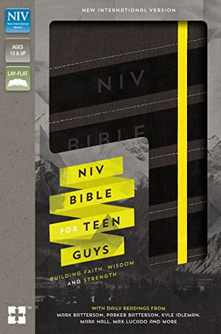 NIV Bible for Teen Guys, Imitation Leather, Charcoal, Elastic Closure: Building Faith, Wisdom and Strength