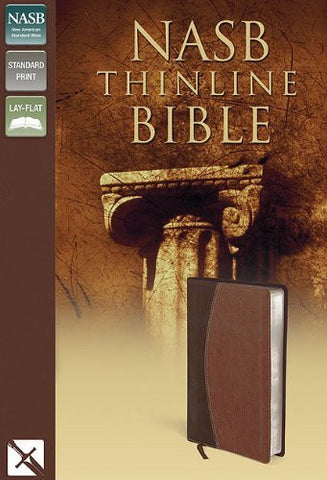 NASB, Thinline Bible, Imitation Leather, Brown/Brown, Lay Flat