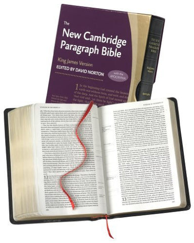 New Cambridge Paragraph Bible with Apocrypha KJ595:TA Black Calfskin: Personal size