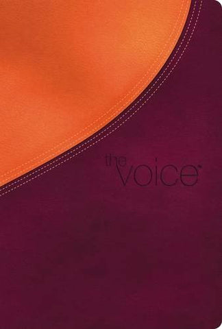 Voice Bible, Imitation Leather, Orange/Burgundy: Step Into the Story of Scripture (Signature)