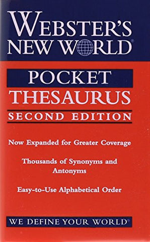 Webster's New World Pocket Thesaurus, 2nd edition