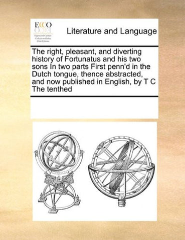 The right, pleasant, and diverting history of Fortunatus and his two sons In two parts  First penn'd in the Dutch tongue, thence abstracted, and now published in English, by T C The tenthed