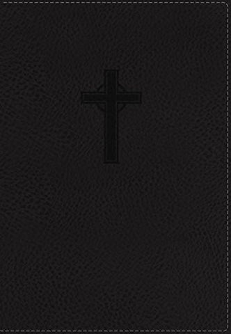 NKJV, UltraSlim Reference Bible, Imitation Leather, Black, Red Letter Edition