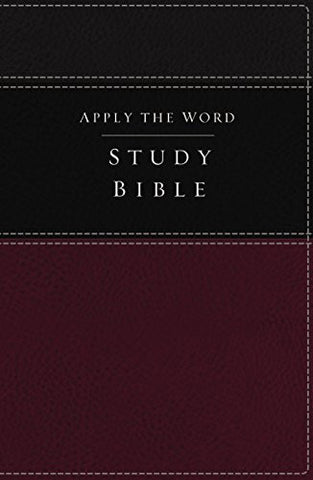 NKJV, Apply the Word Study Bible, Imitation Leather, Burgundy/Black, Red Letter Edition: Live in His Steps