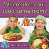 Where Does Our Food Come From? (Bobbie Kalman's Leveled Readers: My World: G (Paperback))