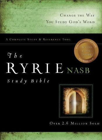 The Ryrie NAS Study Bible Genuine Leather Black Red Letter (Ryrie Study Bibles 2008)