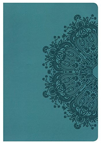 NKJV Giant Print Reference Bible, Teal LeatherTouch, Indexed