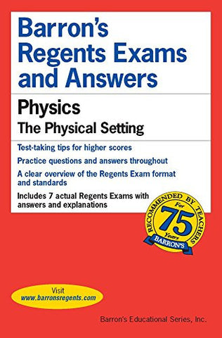 Regents Exams and Answers: Physics (Barron's Regents Exams and Answers)