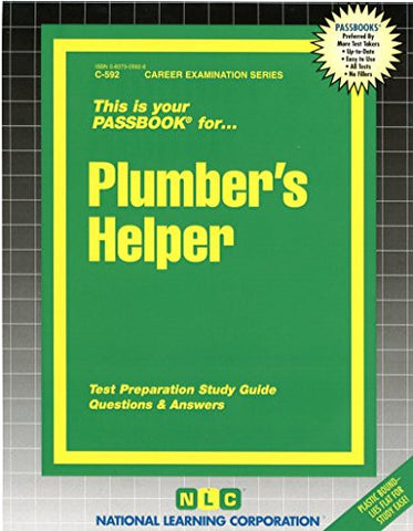 Plumber's Helper(Passbooks) (Career Examination Passbooks)