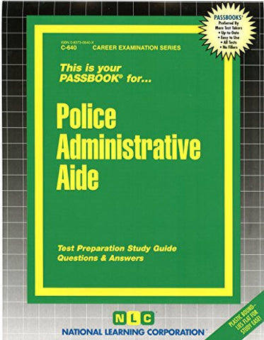 Police Administrative Aide(Passbooks) (Career Examination Passbooks)
