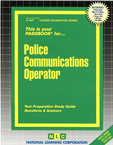 Police Communications & Teletype Operator(Passbooks)