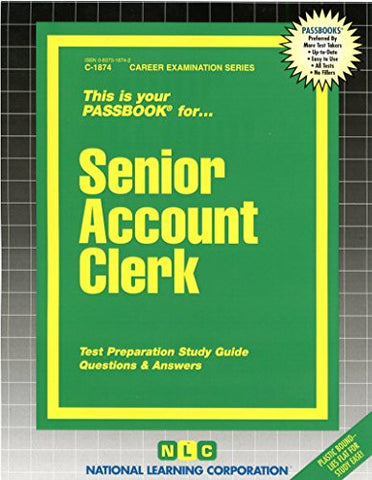 Senior Account Clerk(Passbooks) (Career Examination Passbooks)
