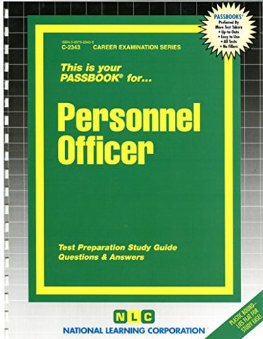 Personnel Officer(Passbooks)