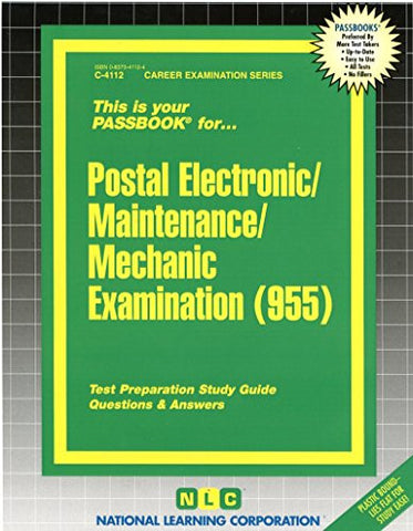 Postal Electronic/Maintenance/Mechanic Examination(Passbooks) (Career Examination Passbooks)
