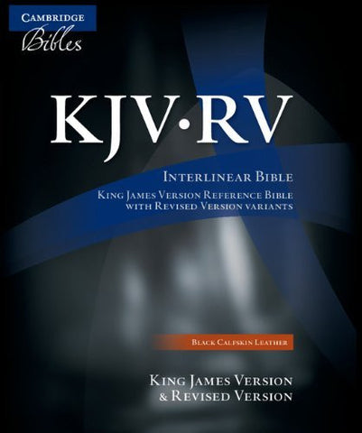 The KJV/RV Interlinear Bible Black Calfskin RV655X