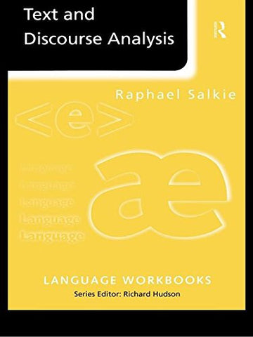 Text and Discourse Analysis (Language Workbooks)