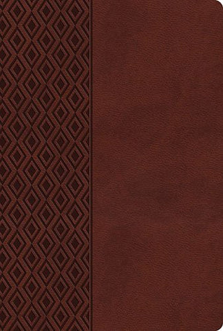 NKJV, UltraSlim Reference Bible, Imitation Leather, Brown, Center Column (Classic)