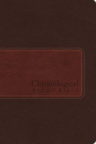 NIV, The Chronological Study Bible, Imitation Leather, Brown