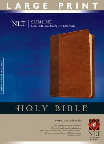 Slimline Center Column Reference Bible NLT, Large Print, TuTone