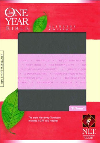 The One Year Bible NLT, Slimline Edition, TuTone