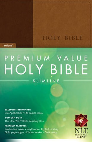 Premium Value Slimline Bible NLT, TuTone