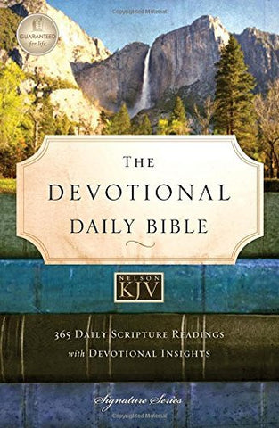 NKJV, The Devotional Daily Bible, Hardcover, Multicolor