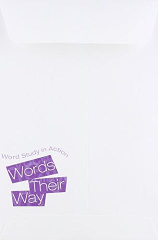 WORDS THEIR WAY: WORD STUDY IN ACTION DEVELOPMENTAL MODEL REVISED NOTE  ENVELOPES 10-PACK COPYRIGHT 2012