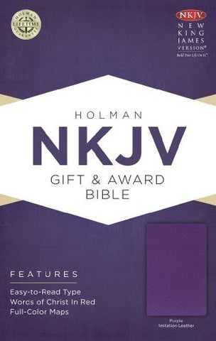 NKJV Gift & Award Bible, Purple Imitation Leather