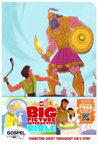 The Big Picture Interactive Bible for Kids, David and Goliath Edition LeatherTouch: Connecting Christ Throughout God's Story (The Gospel Project)