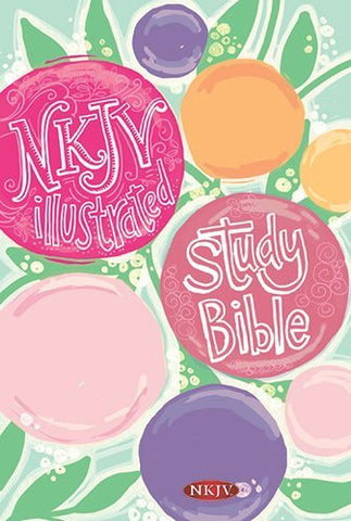 NKJV Illustrated Study Bible for Kids, Flower Hardcover