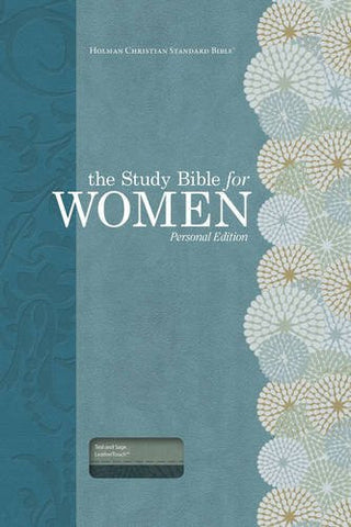The Study Bible for Women: HCSB Personal Size Edition, Teal/Sage LeatherTouch