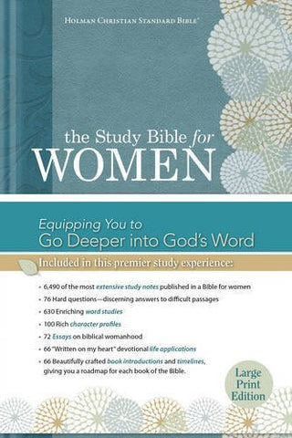 The Study Bible for Women: HCSB Large Print Edition, Printed Hardcover, Indexed