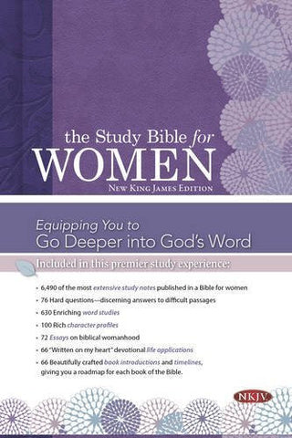 The Study Bible for Women: NKJV Edition, Printed Hardcover