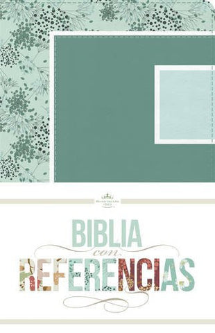 RVR 1960 Biblia con Referencias, abstracto, verde mar/celeste símil piel (Seasons Series) (Spanish Edition)