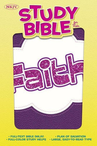 NKJV Study Bible for Kids, Faith LeatherTouch