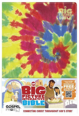 The Big Picture Interactive Bible for Kids, Multicolor Tie-Dye LeatherTouch: Connecting Christ Throughout God's Story (The Gospel Project)