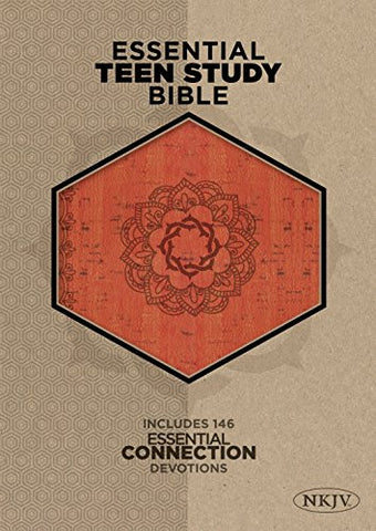 The NKJV Essential Teen Study Bible, Orange Cork LeatherTouch
