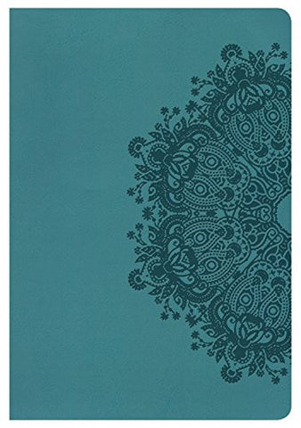 NKJV Large Print Ultrathin Reference Bible, Teal LeatherTouch
