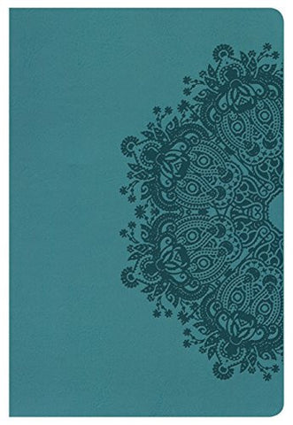 NKJV Large Print Personal Size Reference Bible, Teal LeatherTouch, Indexed