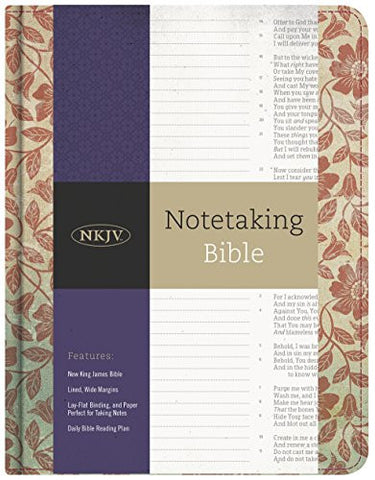 NKJV Notetaking Bible, Red Floral