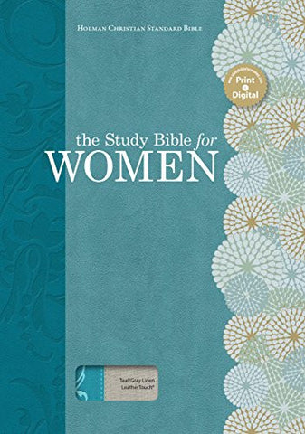 The Holman Study Bible for Women, HCSB Edition, Teal/Gray Linen