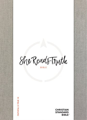 She Reads Truth Bible, Gray Linen, Indexed