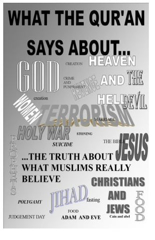 what the Qur'an says about...