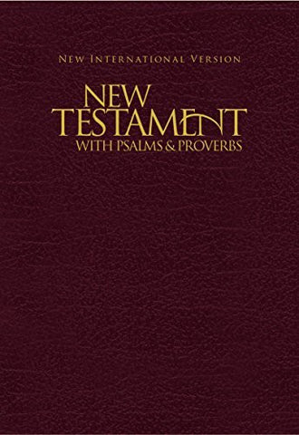 NIV, Holy Bible New Testament with Psalms and   Proverbs, Pocket-Sized, Imitation Leather, Brown