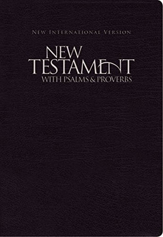 NIV, New Testament with Psalms and   Proverbs, Paperback, Black